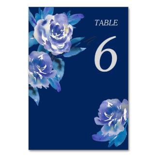 Tarjeta Tabla floral azul elegante de la bodas de plata