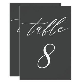 Tarjeta Tabla moderna simple del boda del carbón de leña