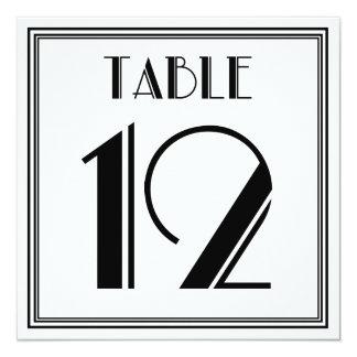 Tarjeta Tabla número 12 del art déco