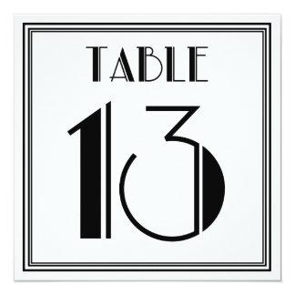 Tarjeta Tabla número 13 del art déco