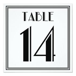 Tarjeta Tabla número 14 del art déco