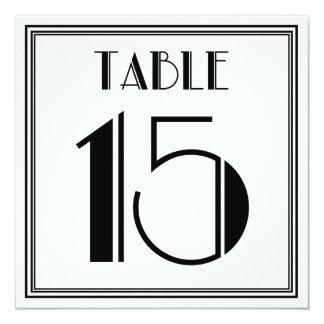 Tarjeta Tabla número 15 del art déco