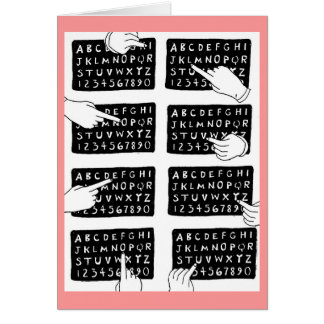 Tarjeta tablero del alfabeto