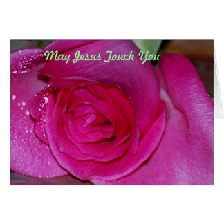 Tarjeta Tacto de mayo Jesús usted