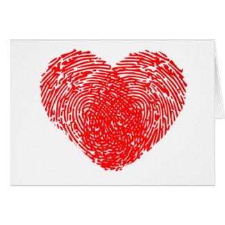 Tarjeta Tacto personal romántico del corazón único del