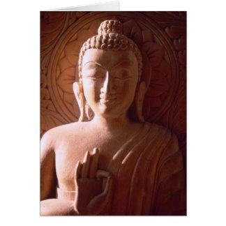 Tarjeta Talla de madera india de Buda