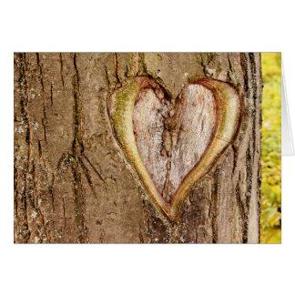 Tarjeta tallada árbol del día de San Valentín del