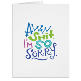 Tarjeta tan triste de la disculpa