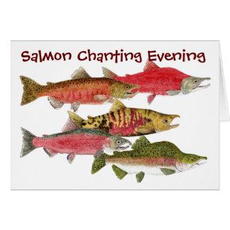 Tarjeta Tarde de color salmón el cantar