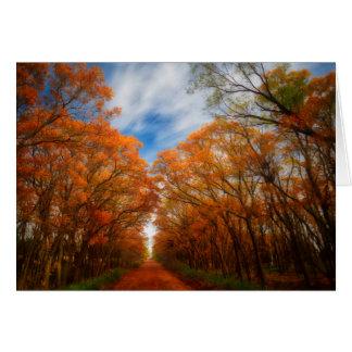 Tarjeta Tarde del otoño