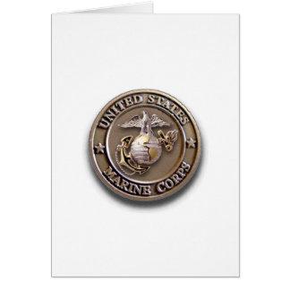 Tarjeta ¡Tarjeta adaptable del sello del USMC para