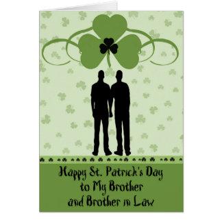 Tarjeta Tarjeta, Brother y cuñado del día de St Patrick