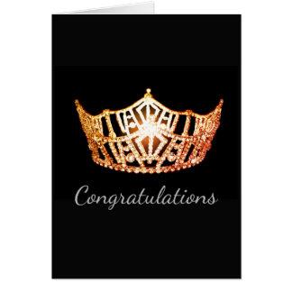 Tarjeta Tarjeta-Congrats anaranjada del saludo de la