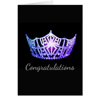 Tarjeta Tarjeta-Congrats del saludo de la corona de la