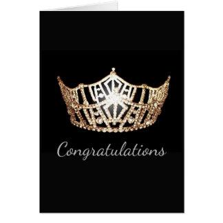 Tarjeta Tarjeta-Congrats del saludo de la corona del oro