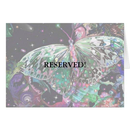 Tarjeta ¡Tarjeta de levantamiento de la tabla de mariposa!