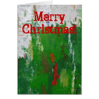 Tarjeta ¡Tarjeta de Navidad artsy!