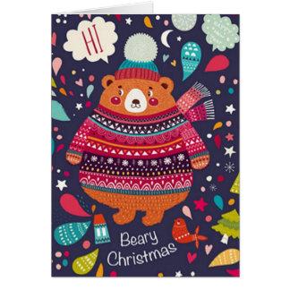 Tarjeta ¡Tarjeta de Navidad de Beary!