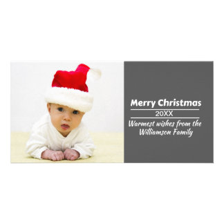 Tarjeta ¡Tarjeta de Navidad de la foto de DIY - añada la