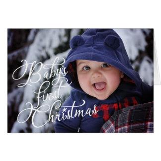 """Tarjeta """"Tarjeta de Navidad de la foto del primer navidad"""