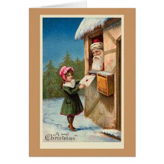"""Tarjeta """"Tarjeta de Navidad del correo del navidad"""""""