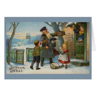 "Tarjeta ""Tarjeta de Navidad del vintage de Joyeux Noel """