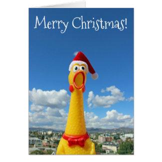 Tarjeta ¡Tarjeta de Navidad impresionante del pollo!