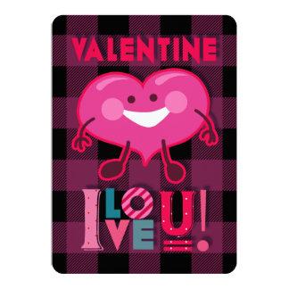 Tarjeta ¡Tarjeta del día de San Valentín te amo! Carácter