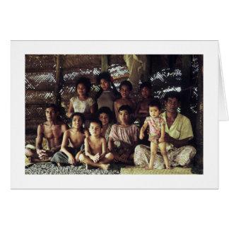 Tarjeta Tarjeta, FAMILIA SAMOANA PORTRAIT, SAVAII, 1968