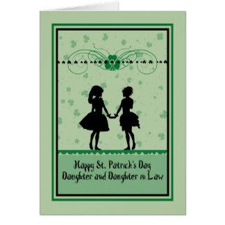Tarjeta Tarjeta, hija y nuera del día de St Patrick