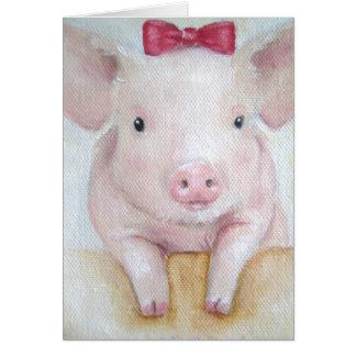 Tarjeta Tarjeta/tarjeta animal del cerdo del bebé