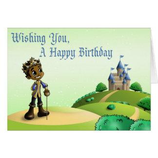 """Tarjeta """"Tarjetas de cumpleaños de príncipe Jamal """""""