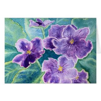 """Tarjeta 'Tarjetas de nota de las violetas"""""""