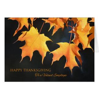 Tarjeta Tarjetas/hojas de arce de la acción de gracias de