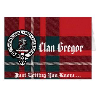 Tarjeta ¡Tarjetas y sobres de nota de Gregor!