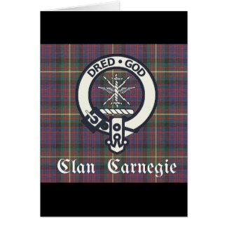 Tarjeta Tartán del escudo de Carnegie del clan