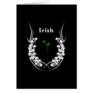 Tarjeta Tatuaje irlandés del trébol