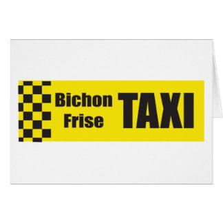 Tarjeta Taxi Bichon Frise