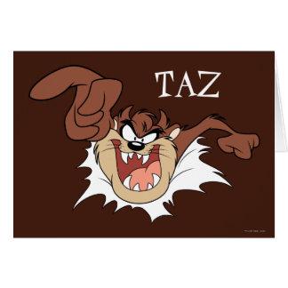 Tarjeta TAZ™ que estalla a través de la página