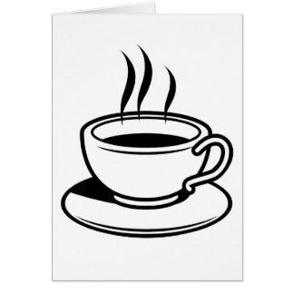 Tarjeta Taza de café caliente