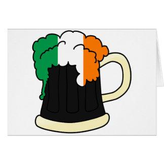 Tarjeta Taza de cerveza de la bandera de Irlanda