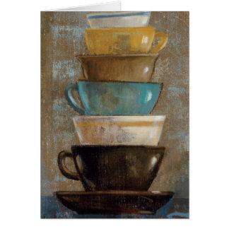 Tarjeta Tazas de café apiladas