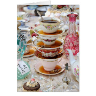 Tarjeta Tazas de té en un fiesta