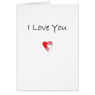 Tarjeta Te amo corazón