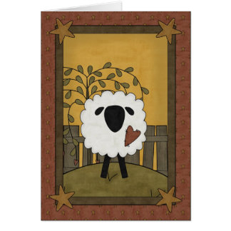 Tarjeta Te amo escena de las ovejas