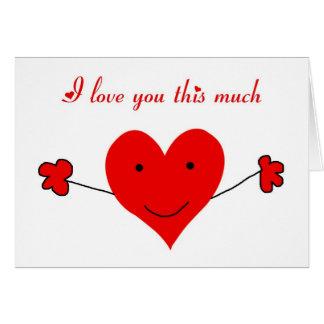 Tarjeta Te amo este el día de San Valentín mucho feliz