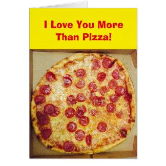 Tarjeta Te amo más que la pizza 4Jojo