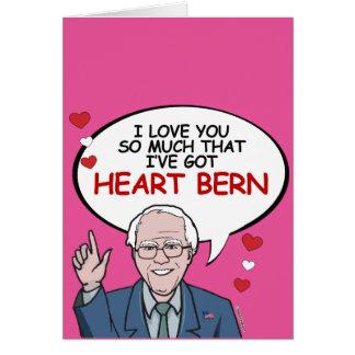 Tarjeta Te amo tanto tengo corazón Berna