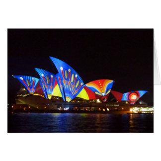 Tarjeta teatro de la ópera brillante de Sydney