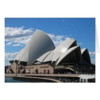 Tarjeta Teatro de la ópera, Sydney Australia